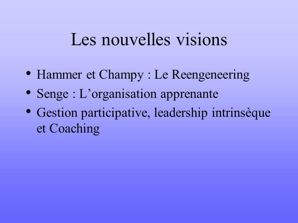 Les nouvelles visions Hammer et Champy : Le Reengeneering