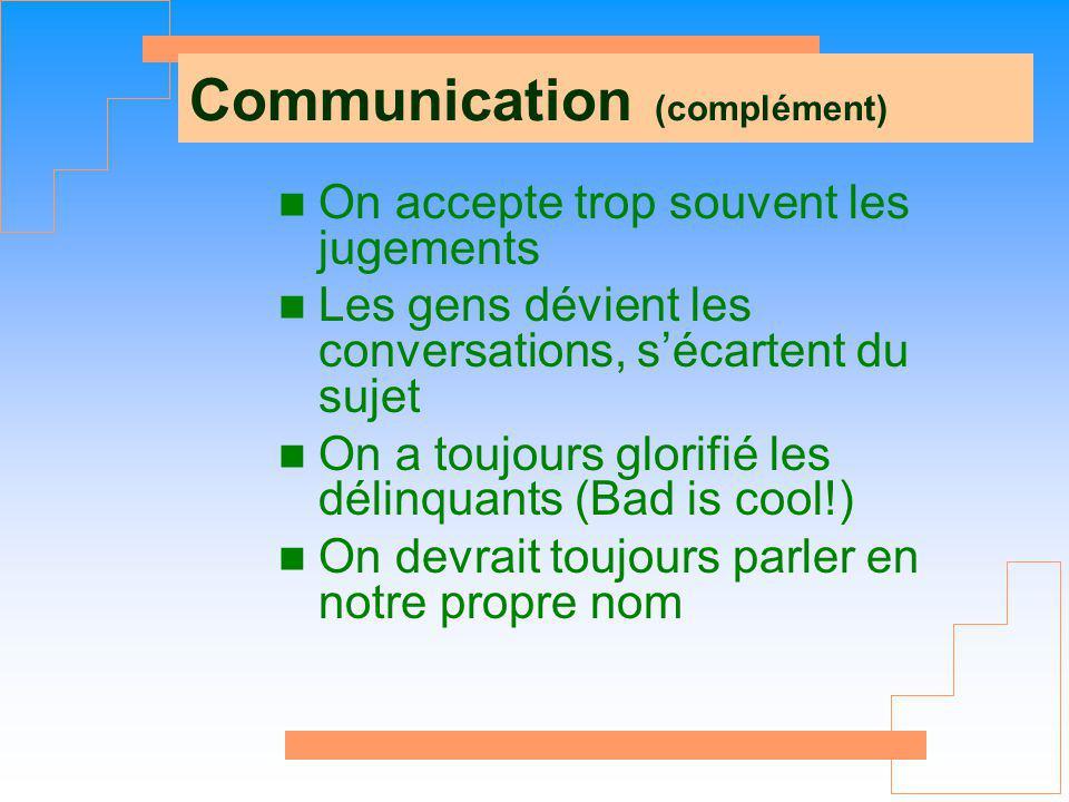 Communication (complément)