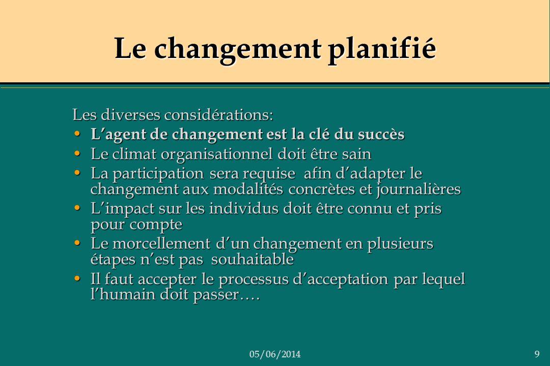 Le changement planifié