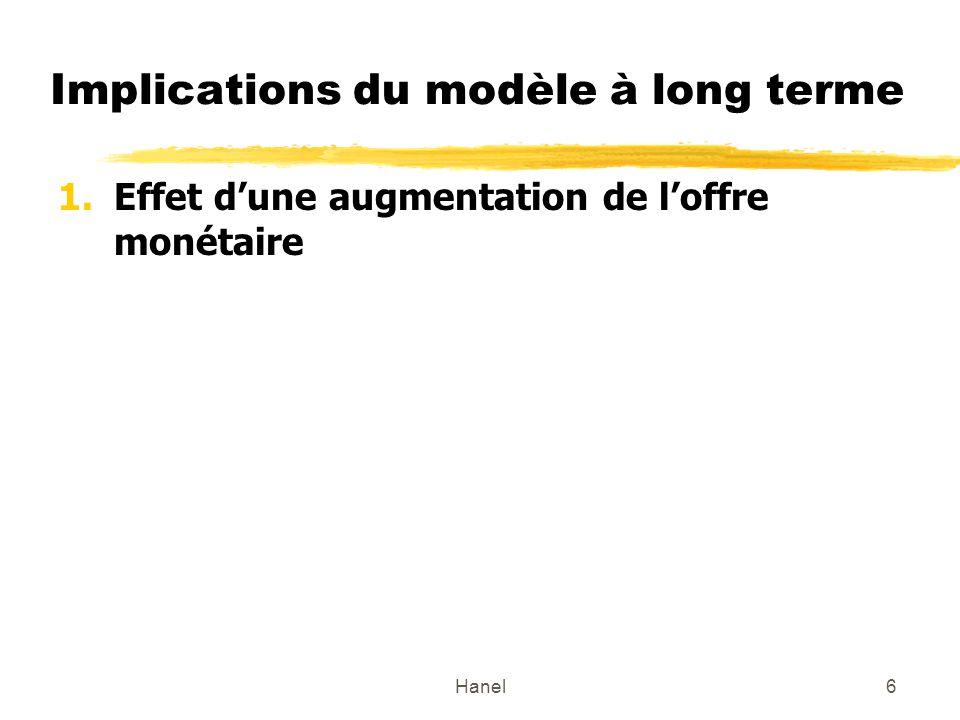 Implications du modèle à long terme