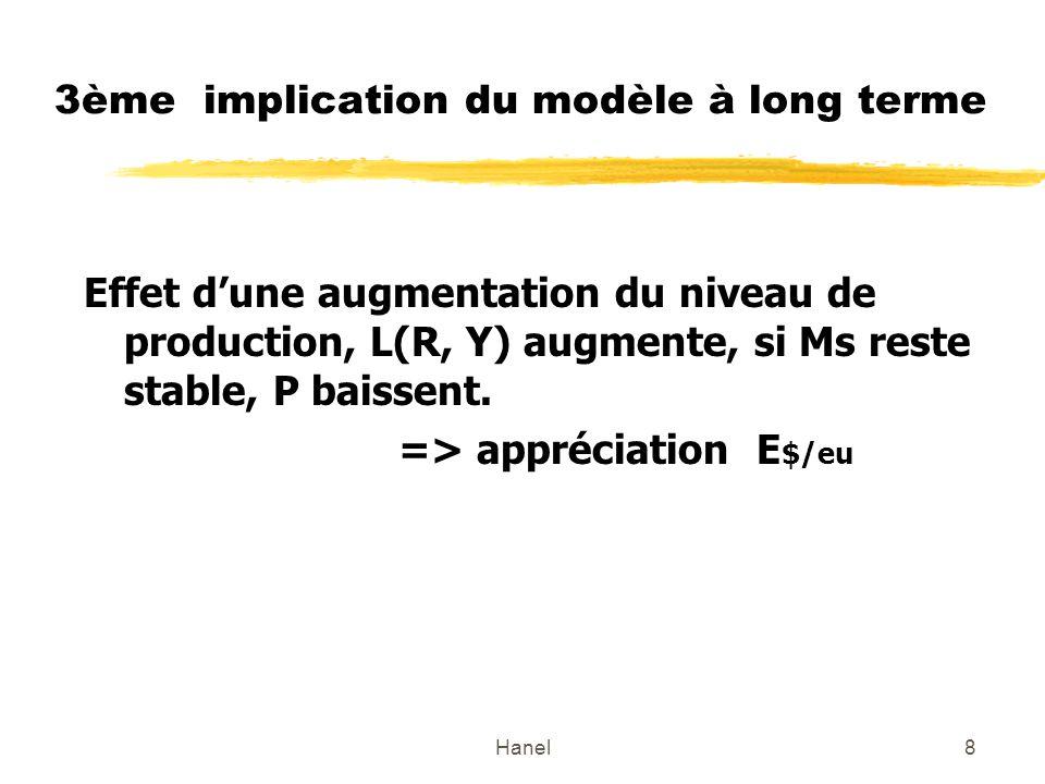 3ème implication du modèle à long terme