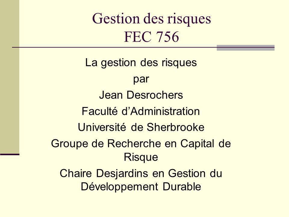 Gestion des risques FEC 756