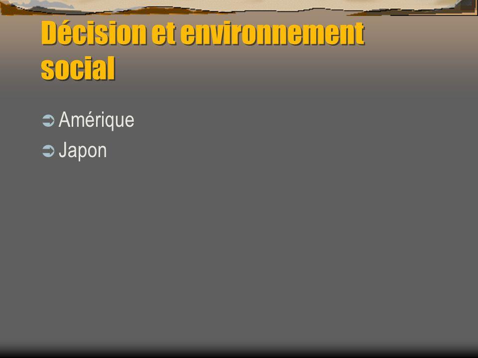 Décision et environnement social