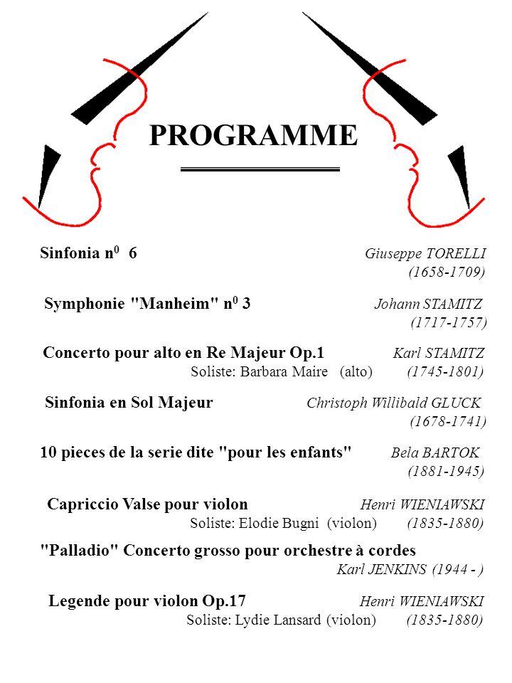 PROGRAMME Sinfonia n0 6 Giuseppe TORELLI