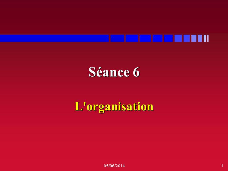 Séance 6 L organisation