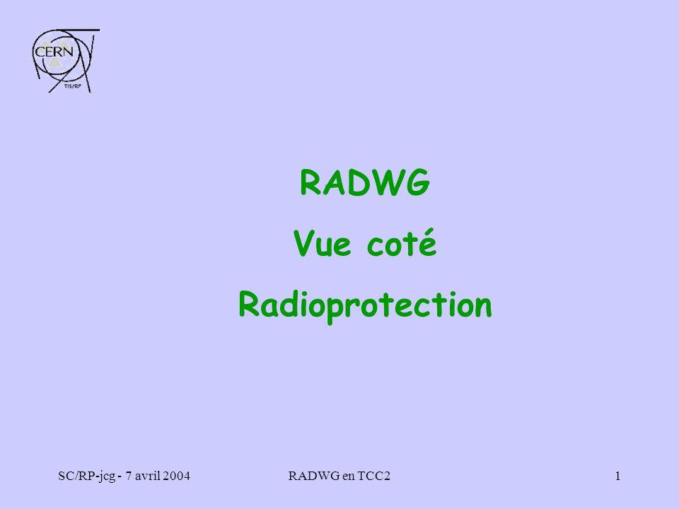 RADWG Vue coté Radioprotection
