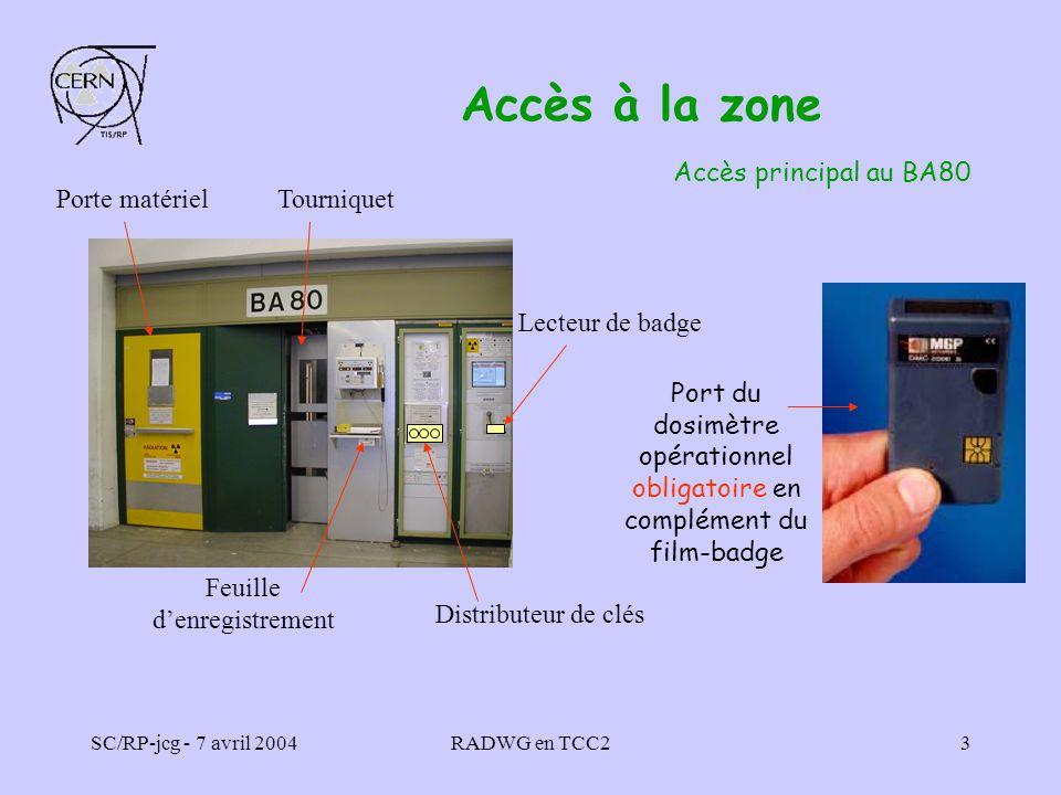 Accès à la zone Accès principal au BA80 Porte matériel Tourniquet