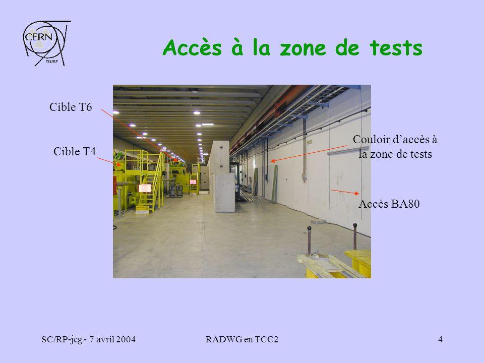 Couloir d'accès à la zone de tests