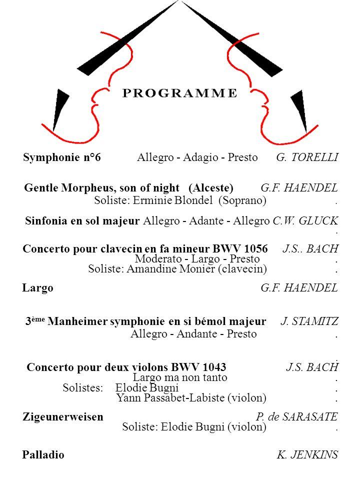 Symphonie n°6 Allegro - Adagio - Presto G. TORELLI