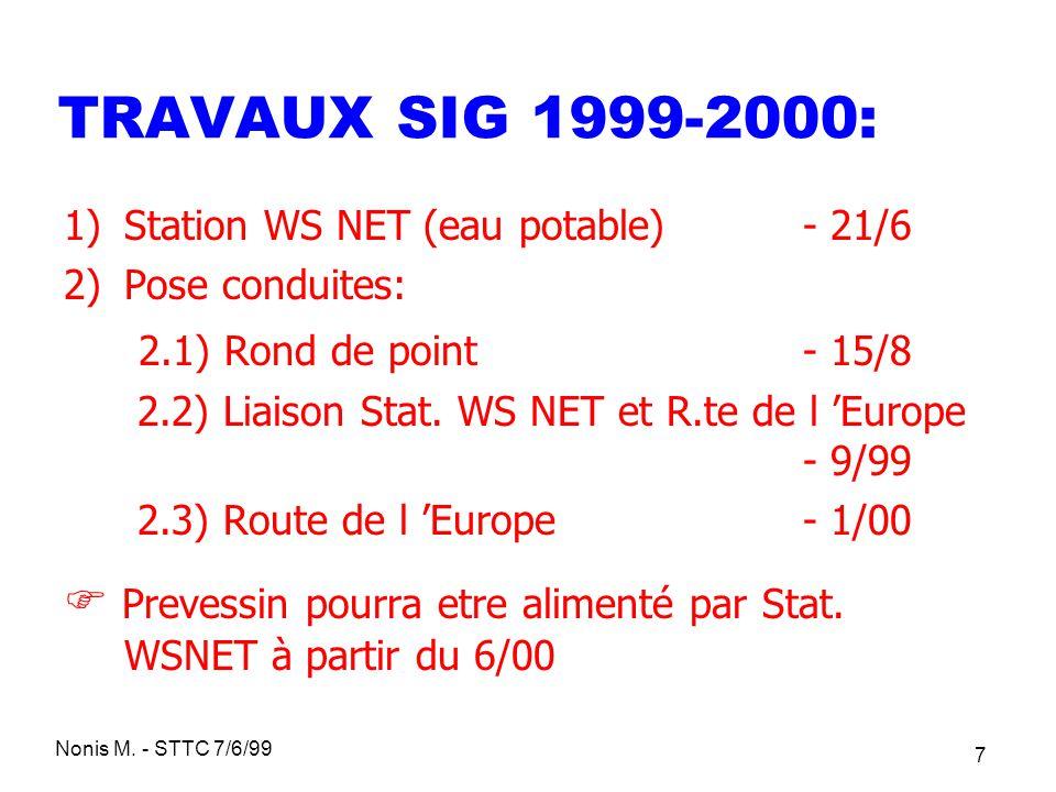 TRAVAUX SIG 1999-2000: 2.1) Rond de point - 15/8
