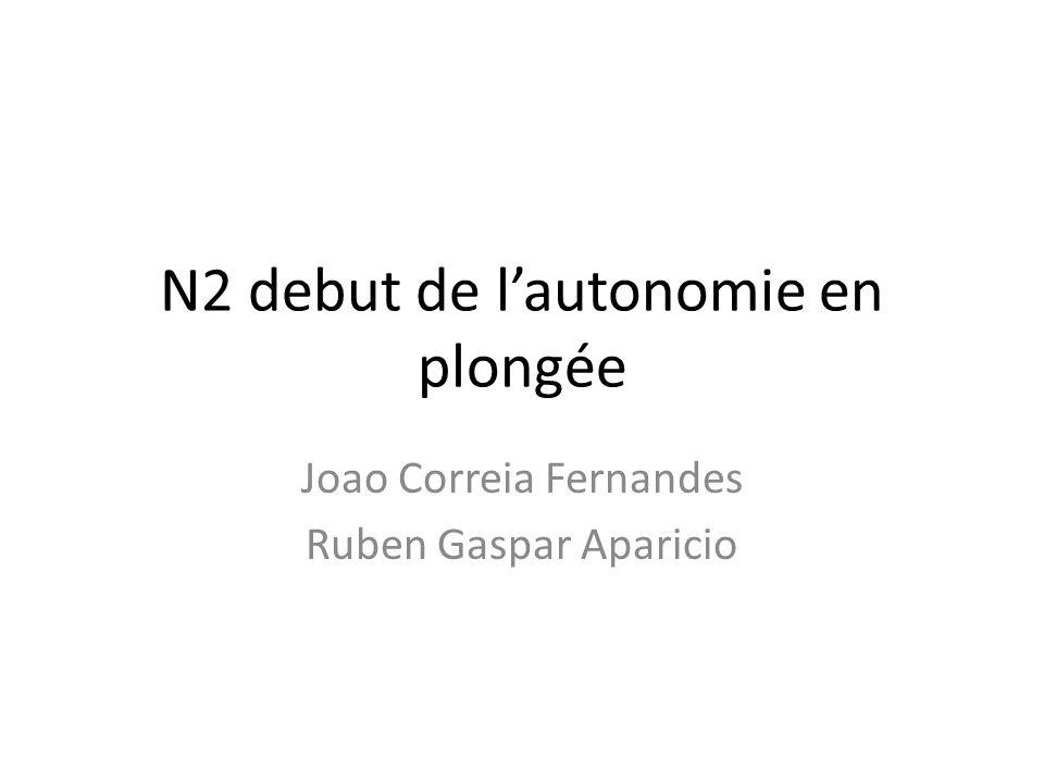 N2 debut de l'autonomie en plongée