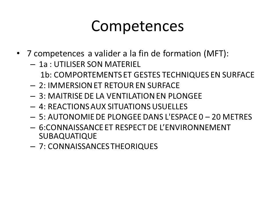 Competences 7 competences a valider a la fin de formation (MFT):