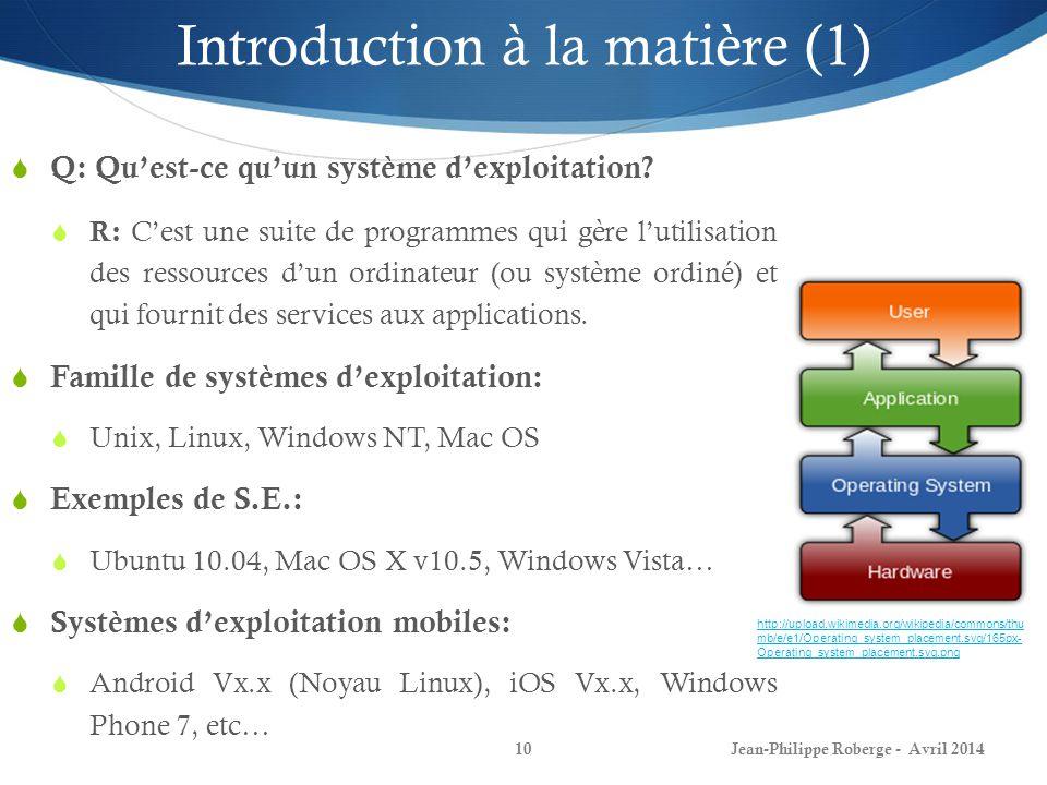 Introduction à la matière (1)