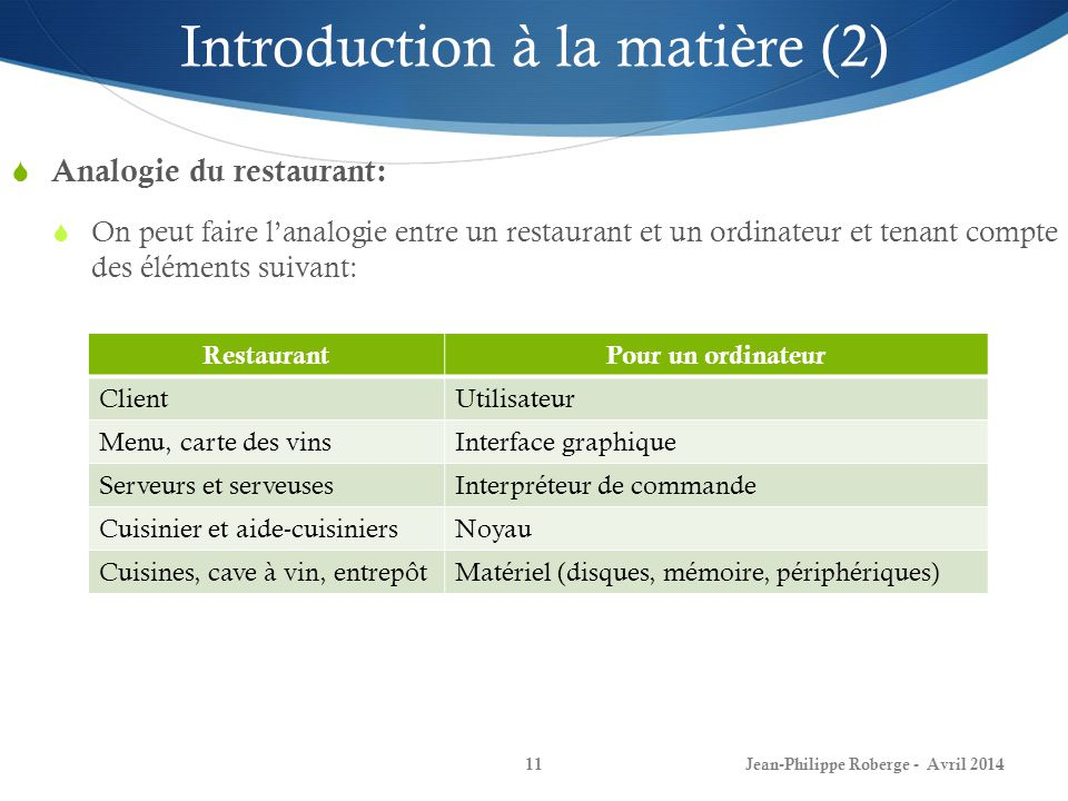 Introduction à la matière (2)