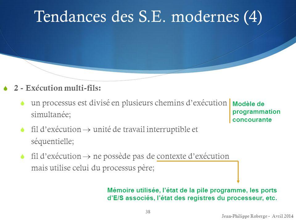 Tendances des S.E. modernes (4)