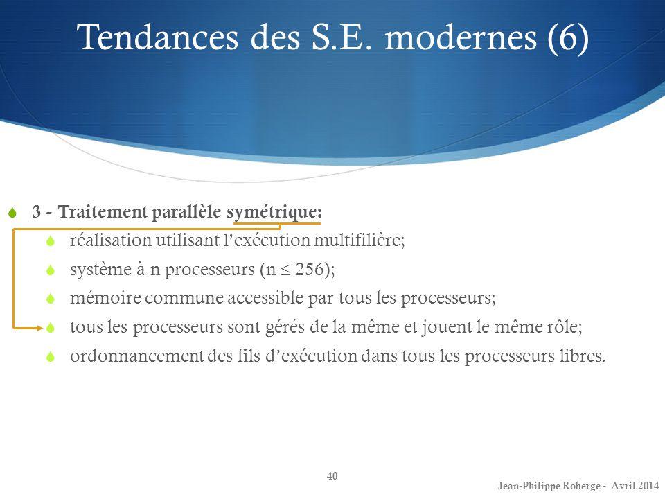 Tendances des S.E. modernes (6)