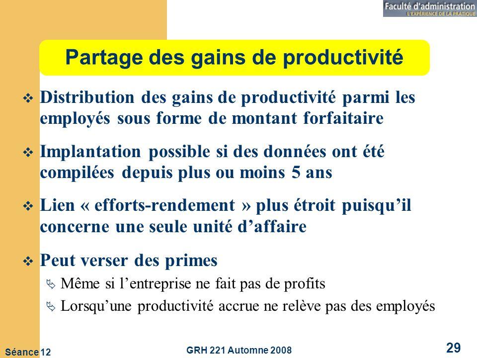 Partage des gains de productivité