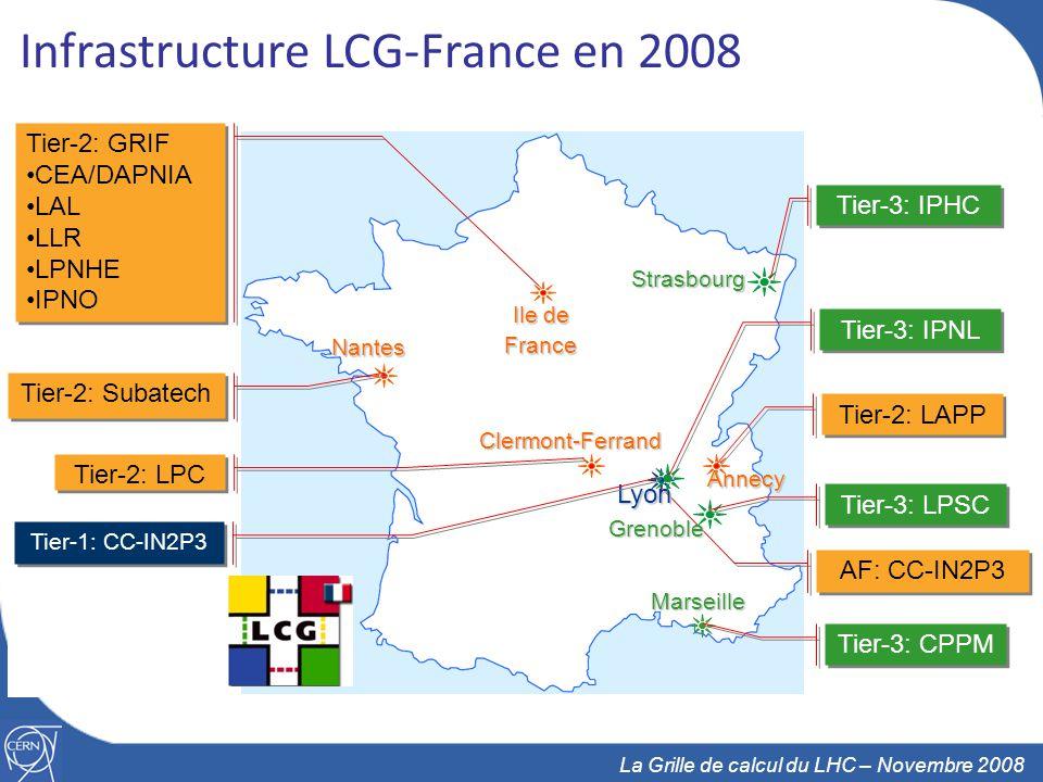 Infrastructure LCG-France en 2008