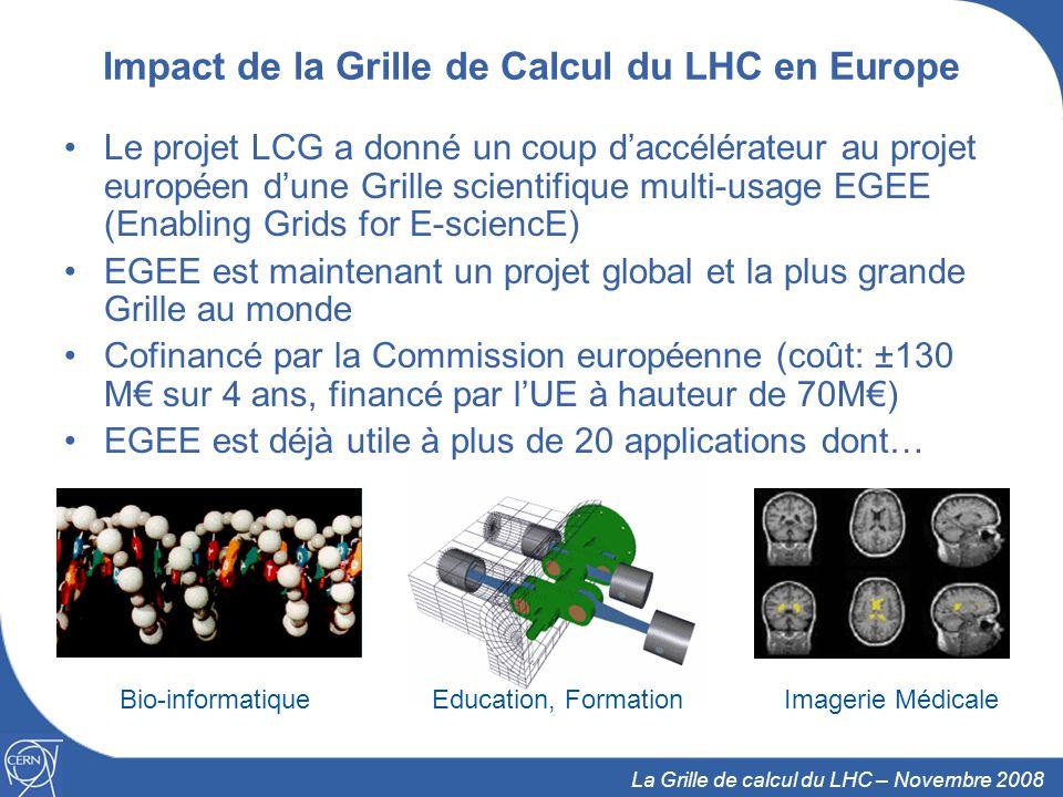 Impact de la Grille de Calcul du LHC en Europe