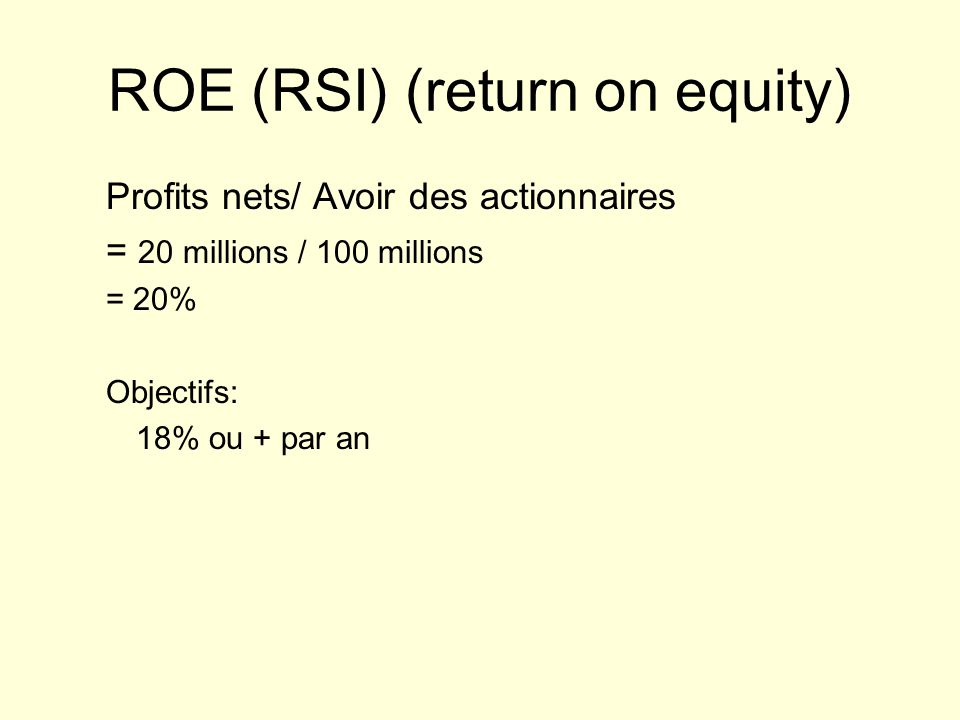 ROE (RSI) (return on equity)