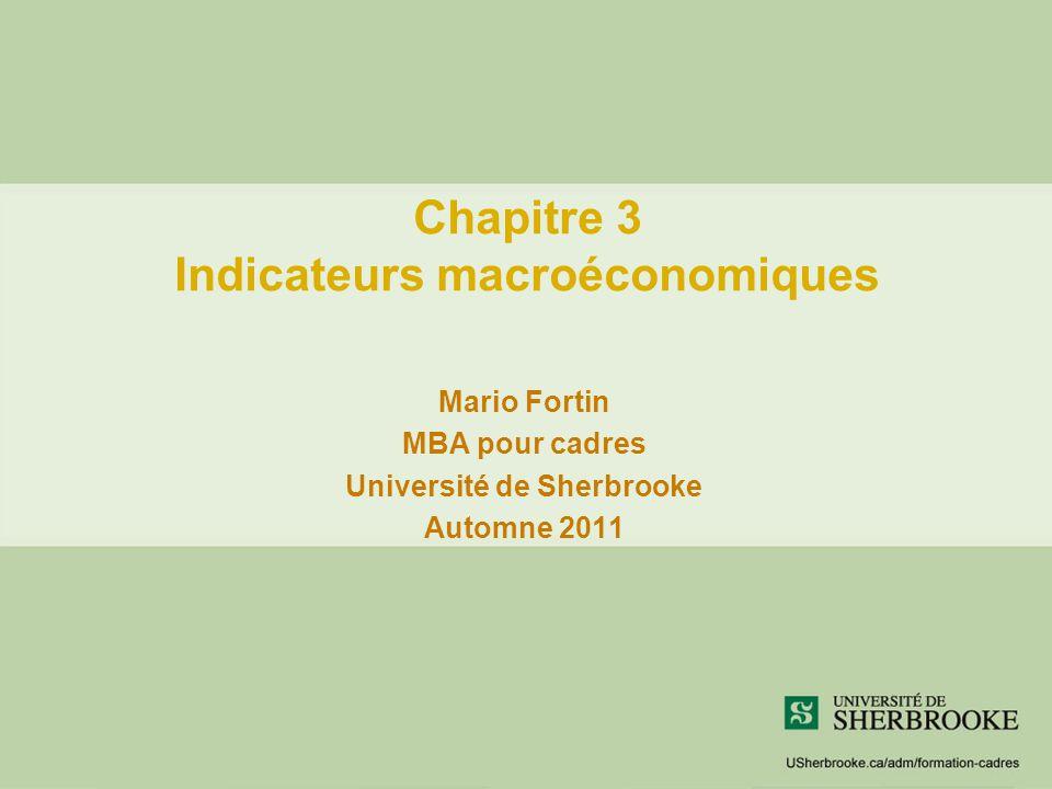 Chapitre 3 Indicateurs macroéconomiques