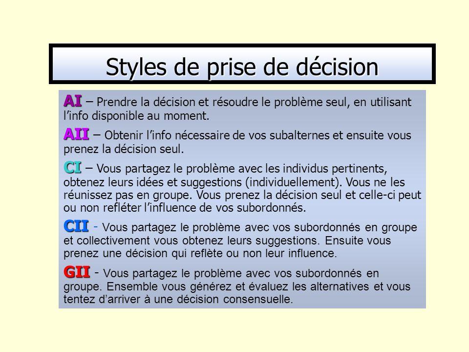 Styles de prise de décision