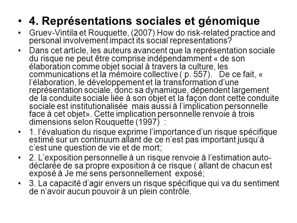4. Représentations sociales et génomique