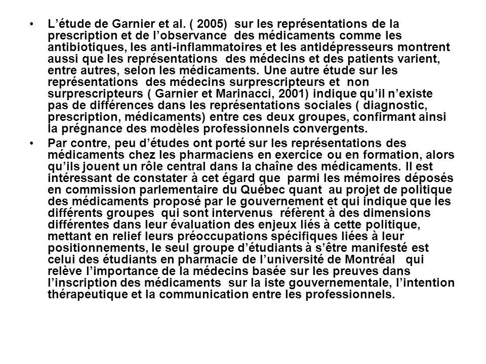 L'étude de Garnier et al