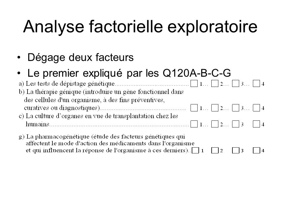 Analyse factorielle exploratoire