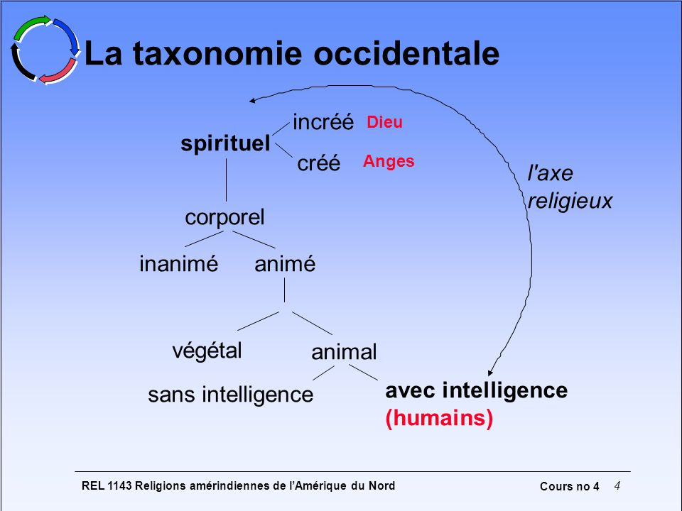 La taxonomie occidentale