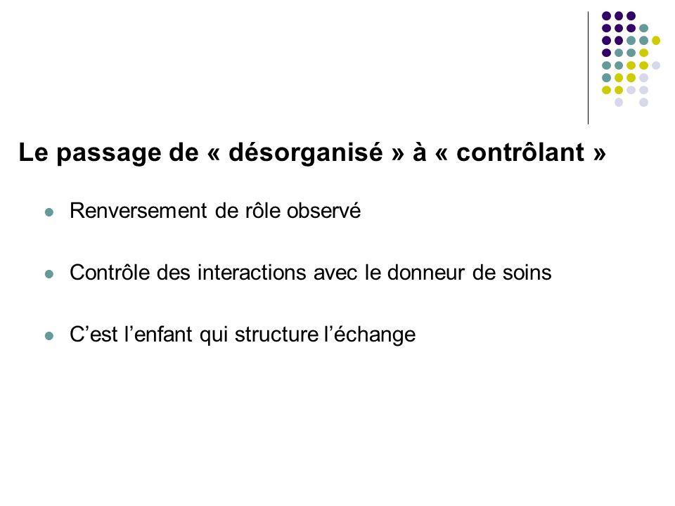 Le passage de « désorganisé » à « contrôlant »