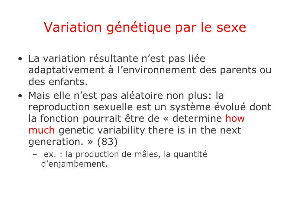 Variation génétique par le sexe