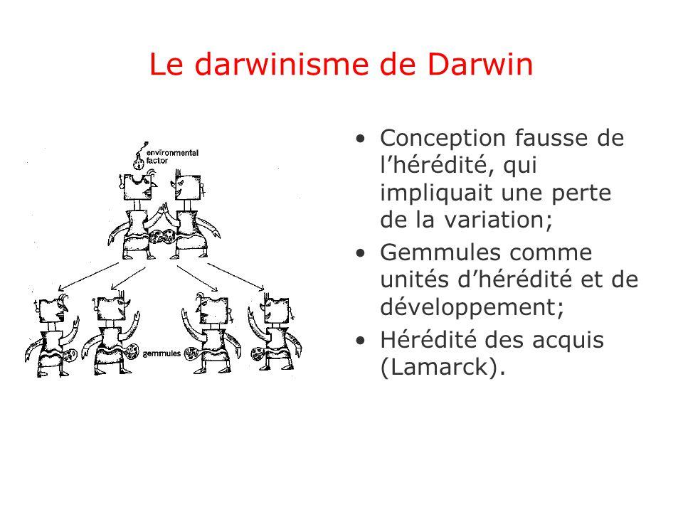Le darwinisme de Darwin