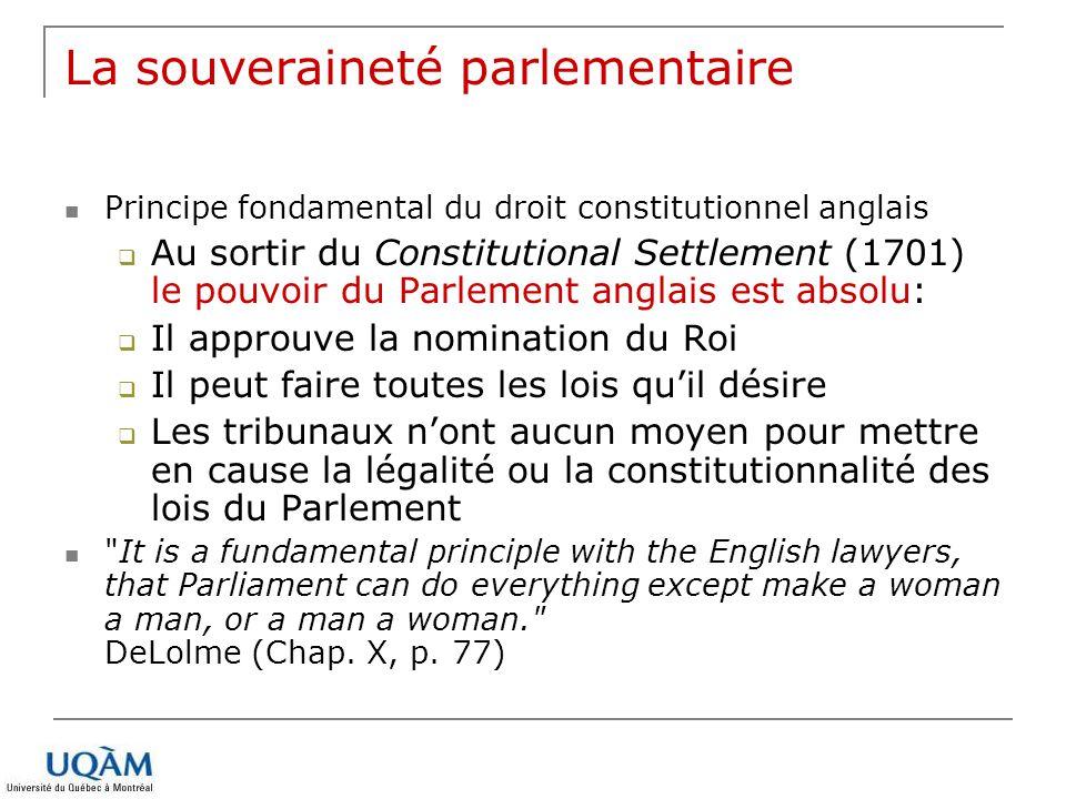 La souveraineté parlementaire