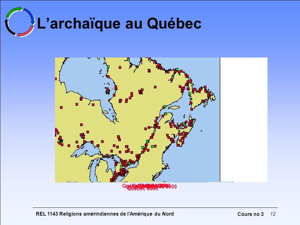 L'archaïque au Québec Québec 2000 Québec 1000 Québec 3000 Québec 7000
