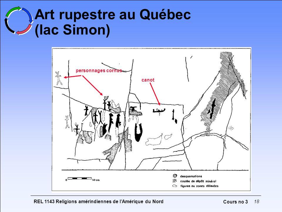 Art rupestre au Québec (lac Simon)
