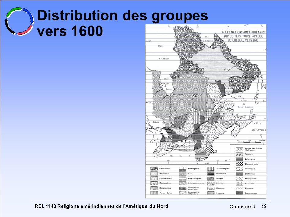 Distribution des groupes vers 1600
