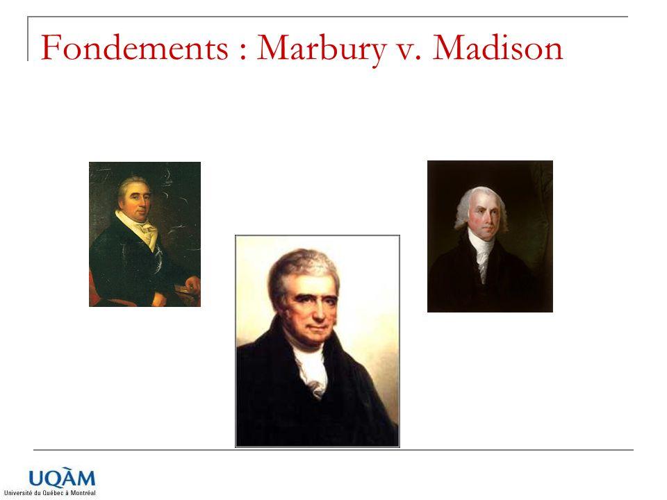 Fondements : Marbury v. Madison
