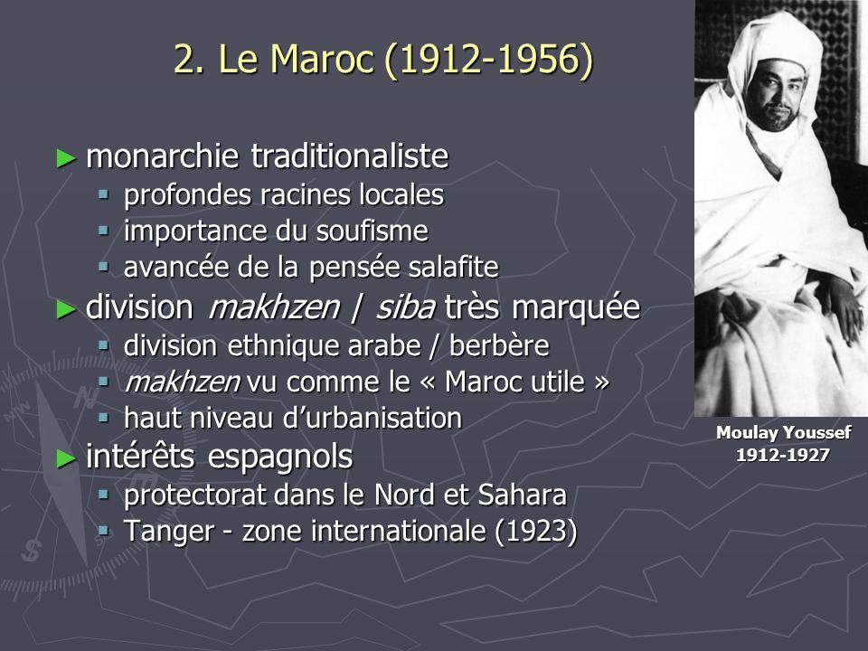 2. Le Maroc (1912-1956) monarchie traditionaliste
