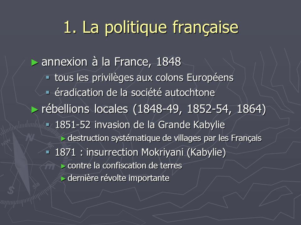 1. La politique française