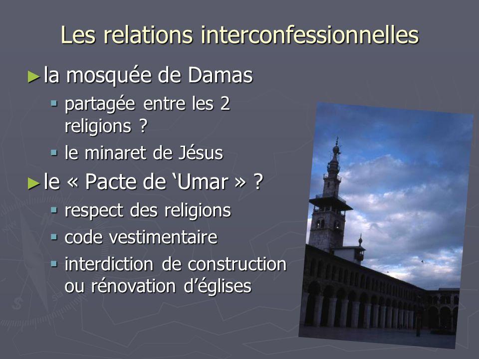 Les relations interconfessionnelles