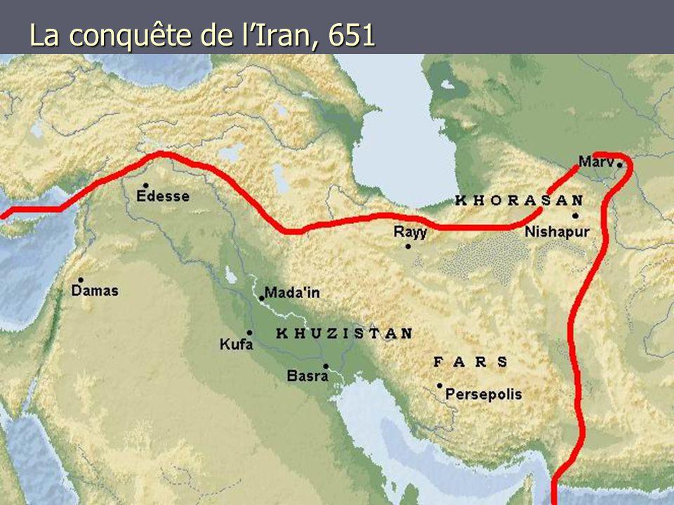 La conquête de l'Iran, 651
