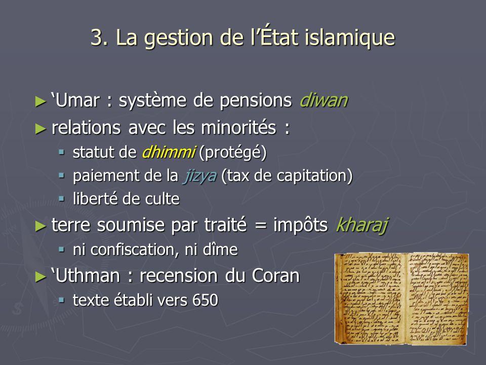 3. La gestion de l'État islamique