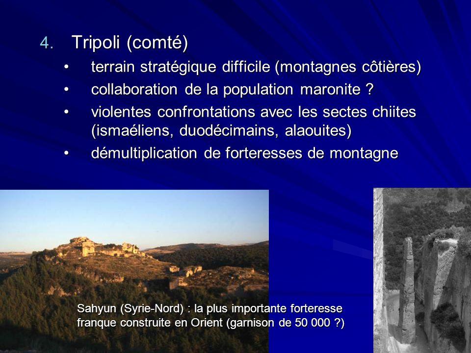Tripoli (comté) terrain stratégique difficile (montagnes côtières)