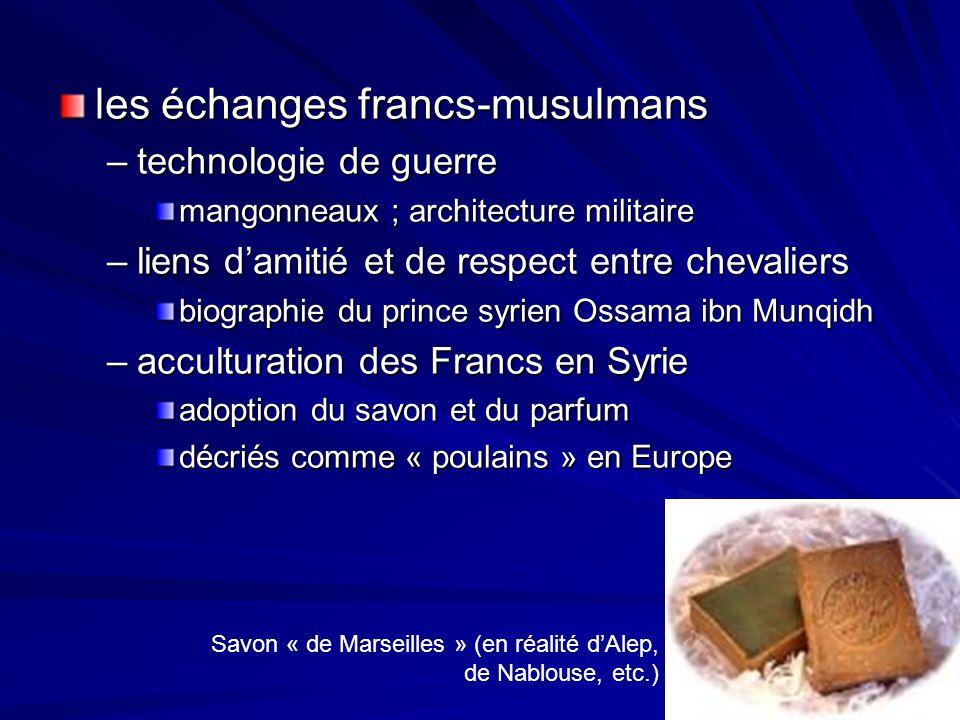 les échanges francs-musulmans