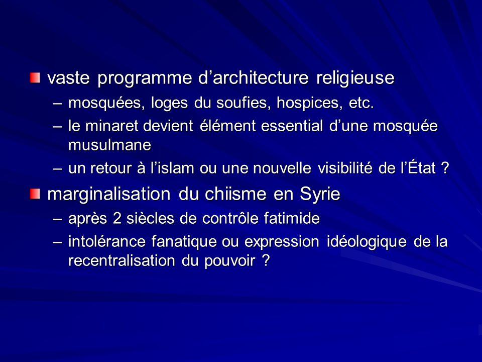 vaste programme d'architecture religieuse