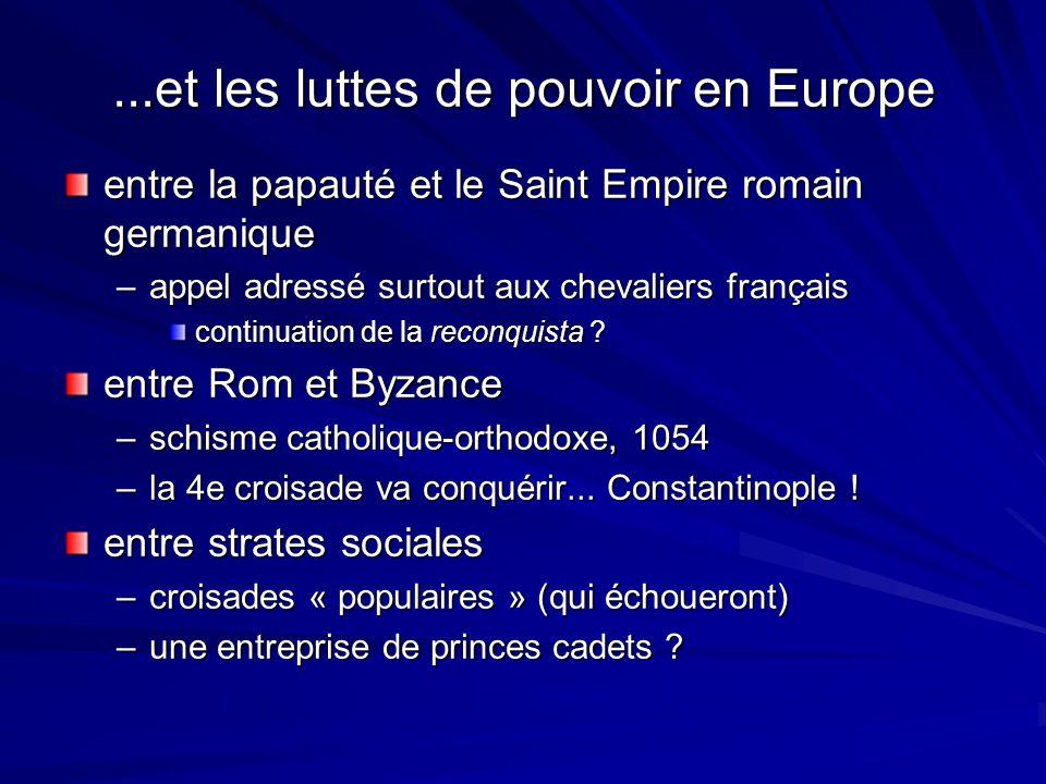 ...et les luttes de pouvoir en Europe