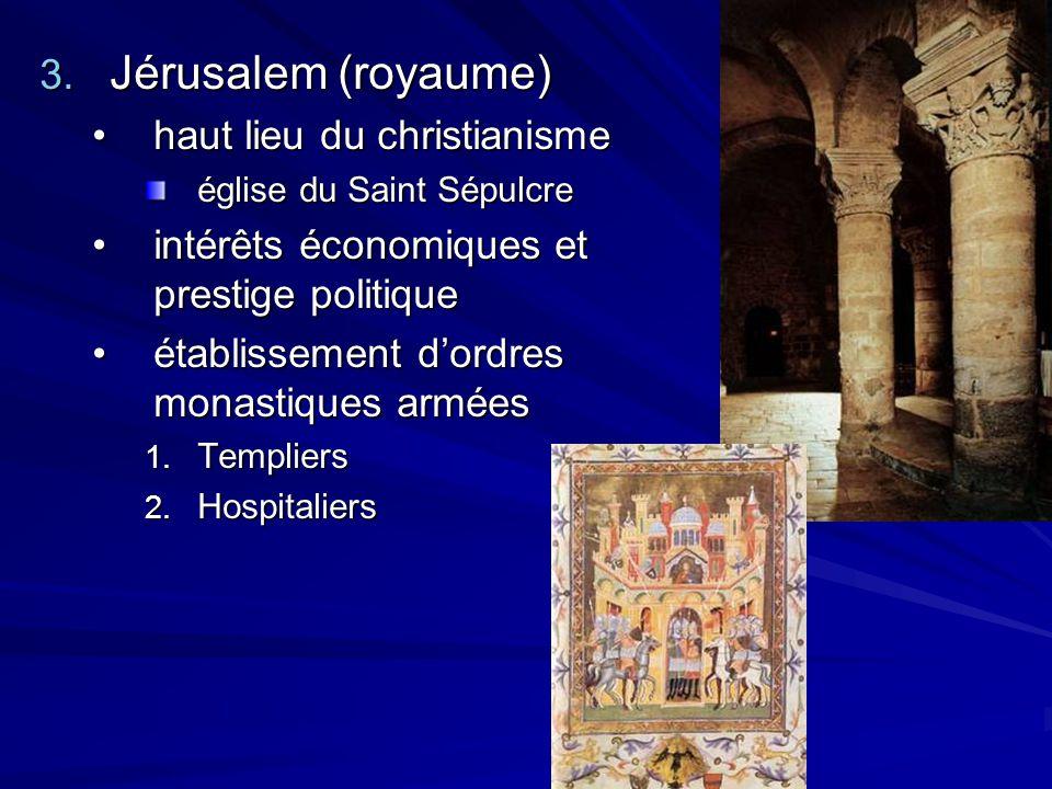 Jérusalem (royaume) haut lieu du christianisme