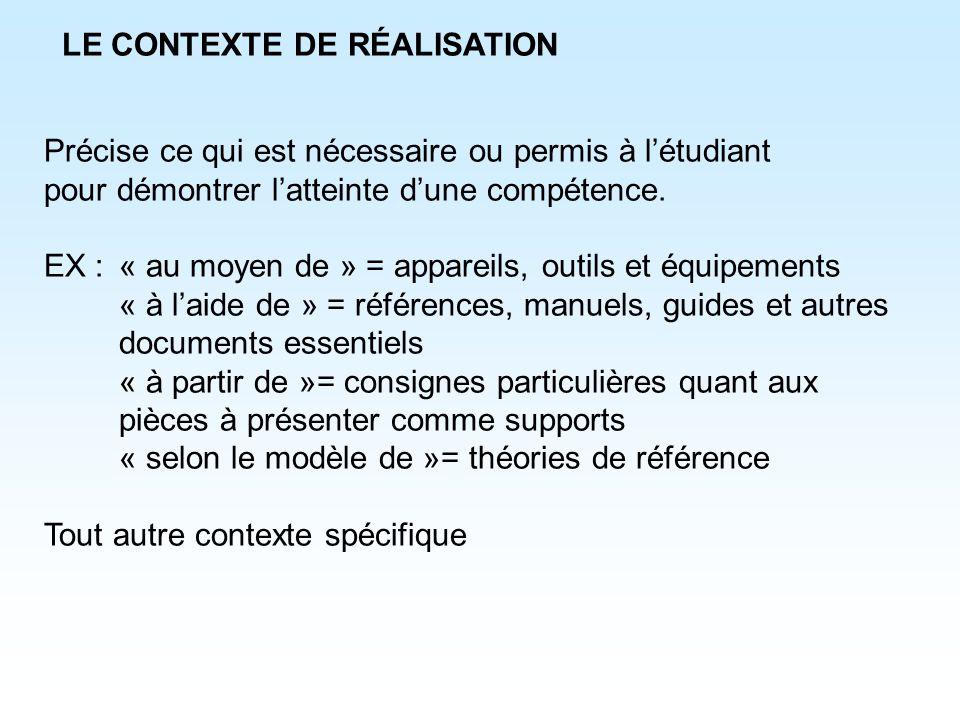 LE CONTEXTE DE RÉALISATION