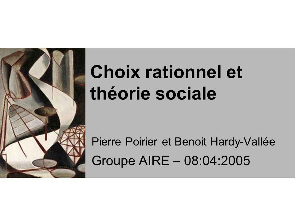 Choix rationnel et théorie sociale